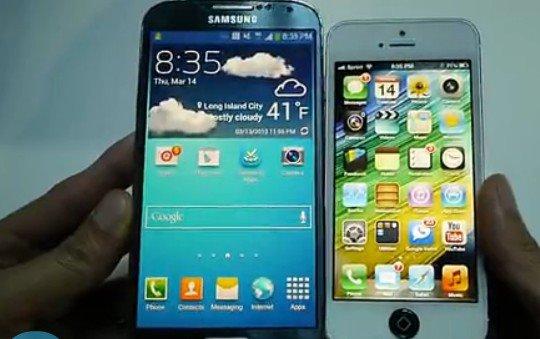 三星GalaxyS4vs苹果iPhone5对比视频-Gala视频狗网狗图片