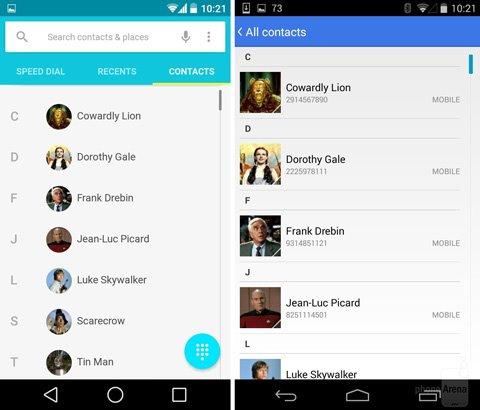 谷歌Android L对比安卓4.4,视觉大不同
