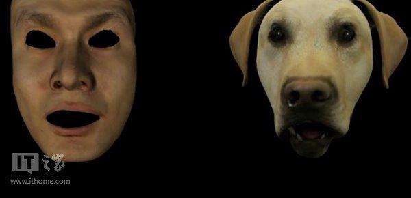 换脸功能,比如你的脸部表情可以来操控一只狗狗的