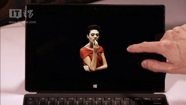 指尖上的3D秀,Surface平板中操控HoloLens全息物体