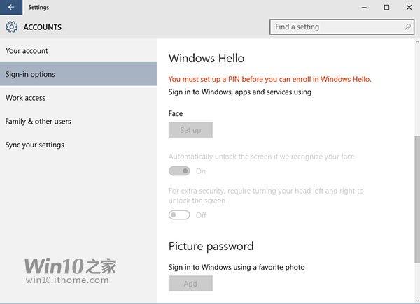 Win10预览版10125:Windows Hello登录现身 - Jackier - Jackiers IT BLOG