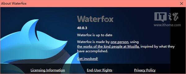 水狐浏览器Waterfox 40.0.3 - 优化Win10体验 - Jackier - Jackiers IT BLOG