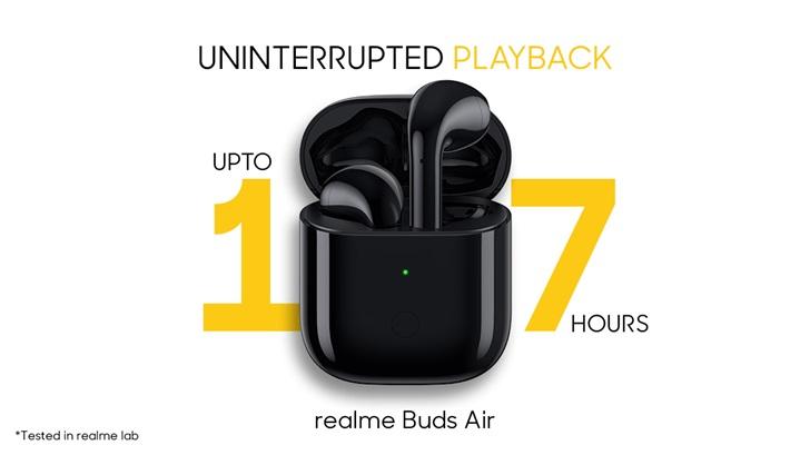 realme Buds Air的续航时间公开,将具有无线充电功能