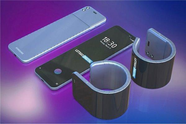 三星新专利曝光:绕在手腕上的可弯曲手机