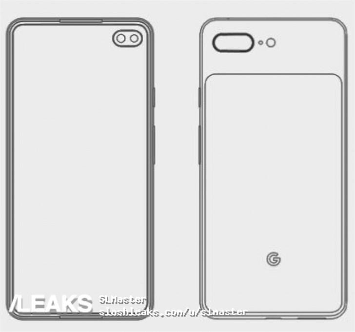 疑似谷歌Pixel 4 XL设计图曝光:打孔屏,后置双摄