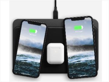 """國外廠商推出""""類蘋果AirPower""""無線充電板:同時充3個設備,隨便放"""
