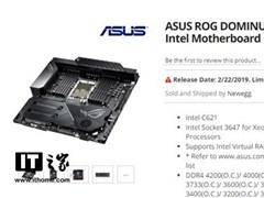 價格破萬!華碩ROG Dominus Extreme主板上架:為28核至強CPU設計