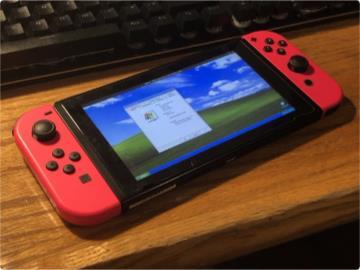 双倍快乐?任天堂Switch成功运行Windows XP:流畅玩三维弹球