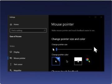 Win10或将迎来类似macOS的查找鼠标光标功能:摇动放大光标