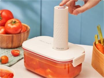 小米有品众筹圆乐电动真空保鲜盒:一键智能抽真空,售价 99 元