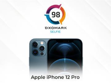 苹果 iPhone 12 Pro 前置摄像头 DXOMARK 得分 98 分,未进前五