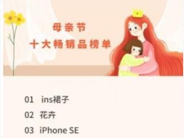 拼多多母親節十大熱銷產品公布:蘋果iPhone SE擠入第三