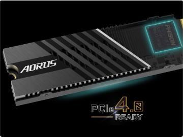 技嘉發布 AORUS Gen4 7000s NVMe 固態硬盤:連續讀取速度 7GB/s