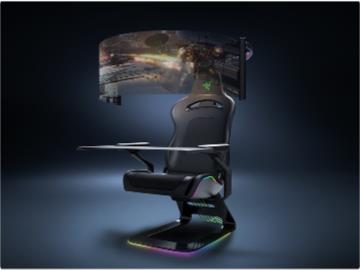 雷蛇展示概念級游戲椅:自帶 60 英寸環繞屏 + RGB 照明