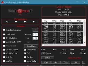 CPU 調整工具 ThrottleStop 9.3 版發布:界面改善,支持更多 CPU