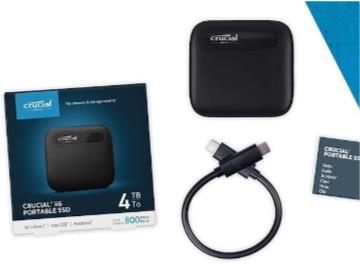 英睿达推出 4TB 版 X6 便携 SSD:采用群联最新 U17 主控,读写 800MB/s
