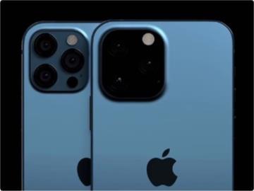 蘋果 iPhone 13 Pro 最新渲染圖:相機模組變黑,且凸起有所增加