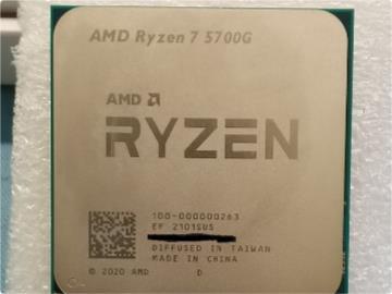 AMD R7 5700G 正式版處理器曝光:Vega 8 核顯,單核最高 4.65GHz