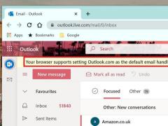 微軟已支持設置 Outlook PWA 版作為 Win10/Win11 默認郵件應用