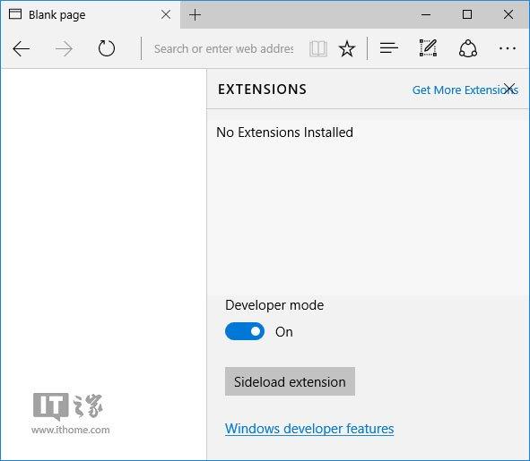Win10 RS1预览版11082:Edge浏览器扩展面板现身