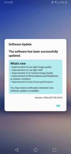 LG V40 ThinQ尚未开售,就已推送系统更新