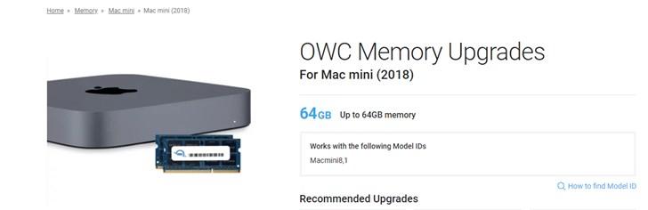 为苹果Mac Mini打造:OWC推出DDR4内存套件,最高6