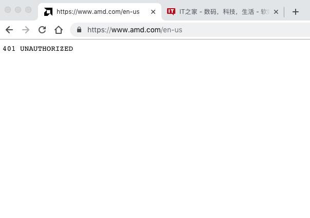 突发:AMD美国官网疑似无法访问