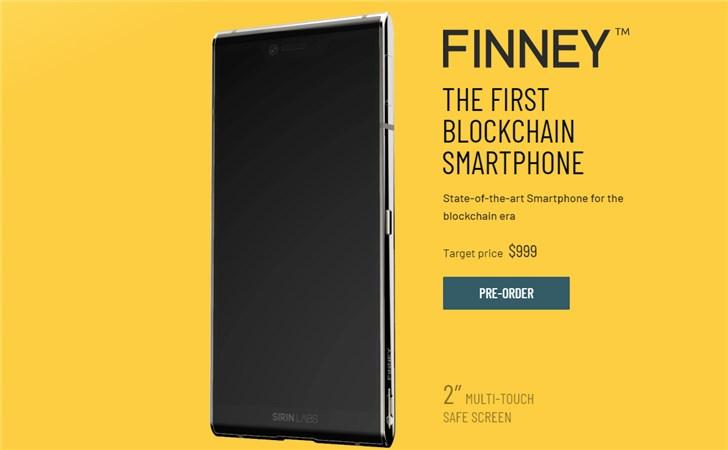 世界首款区块链手机Finney正式发售 售价约6936元