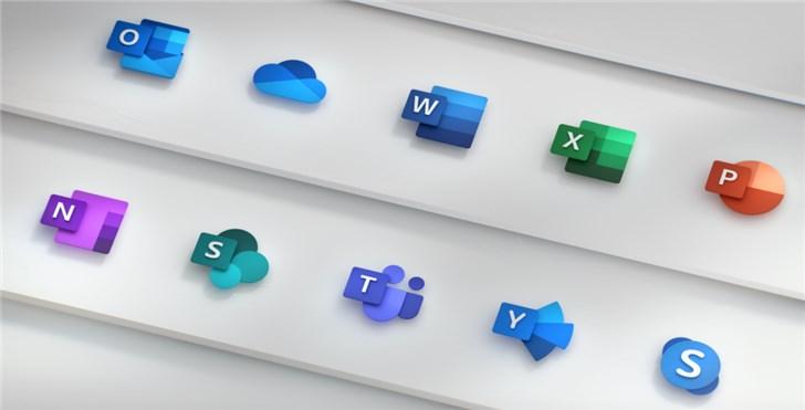 微软详解全新Office 365图标Logo设计理念:色彩、简