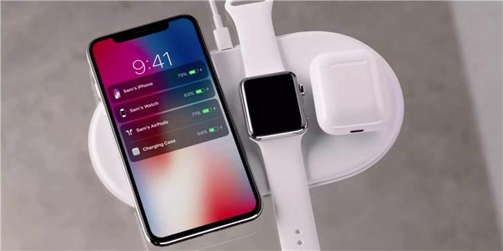"""苹果AirPower新专利曝光:最大""""屏幕""""可显示其他设备充电状态"""