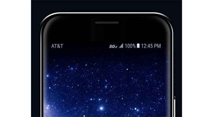 三星手机升级安卓9.0后出现5G E标志