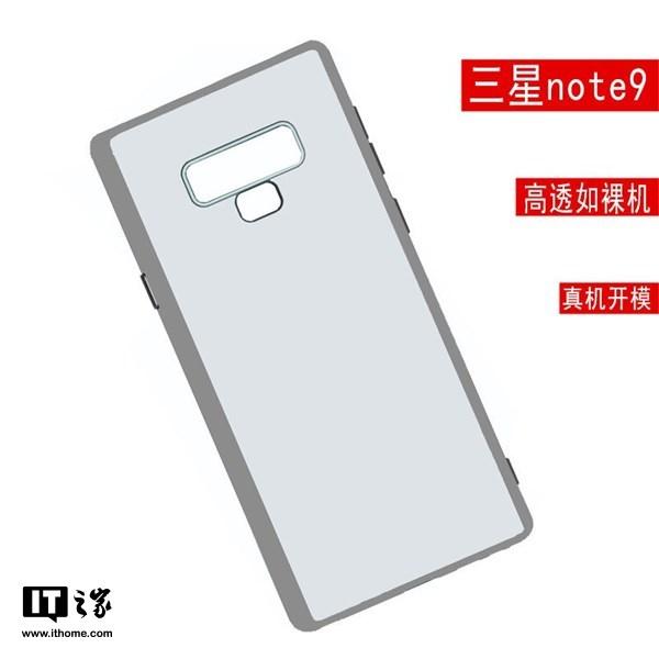 三星Note9保护壳曝光:指纹识别位置有变,有神秘按键