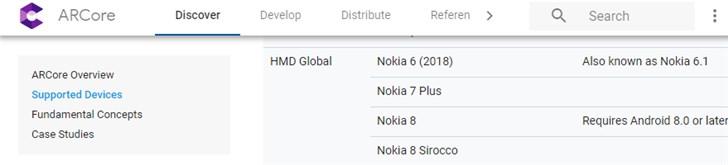 诺基亚8已可以成功安装ARCore并运行