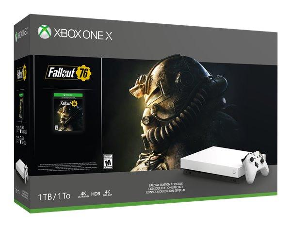 白色微软Xbox One X主机来了:售价499.99美元