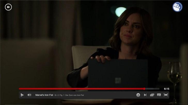 眼尖观众发现微软黑色款Surface Laptop2在美剧《铁