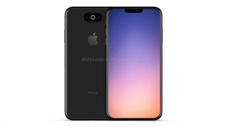 "Onleaks再次曝光苹果""iPhone XI""渲染图 后置三摄刘海变小"