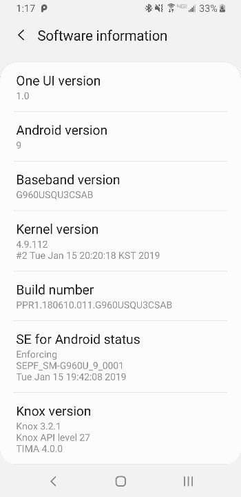 美国Verizon定制版三星S9系列迎来安卓9.0更新