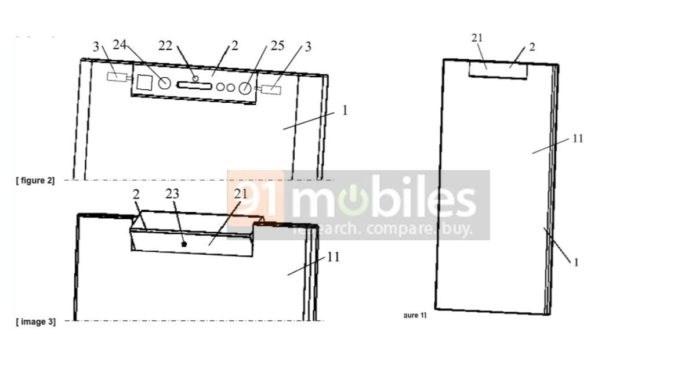 中兴旋转摄像头手机设计专利公布:一侧为屏幕