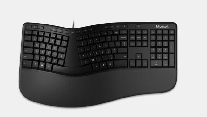 微软推出全新人体工学键盘:专用Office键+表情符