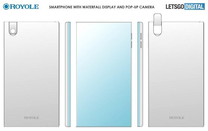 柔宇公司打算推出一款瀑布屏新机,现瀑布屏新机设计专利曝光(1)