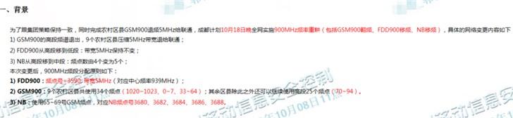 中国移动完成农村区县GSM900退频5MHz给中国联通