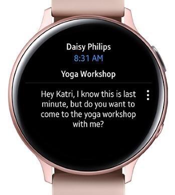 好基友,三星Galaxy Watch可以用微软Outlook收发邮件