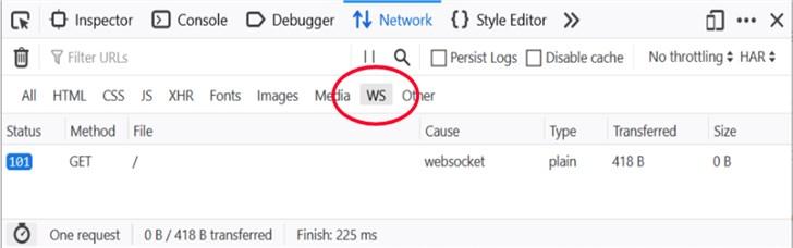 火狐Firefox 71浏览器将带来WebSocket检查器 可将帧过滤为自由文本