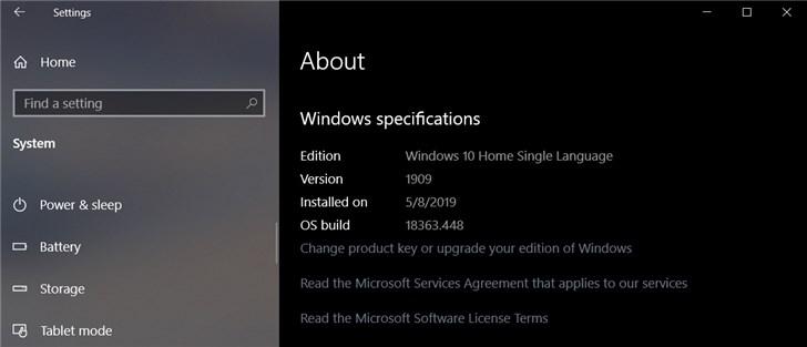 微软提供Windows 10版本1909更新 MSDN订阅者可获取ISO镜像