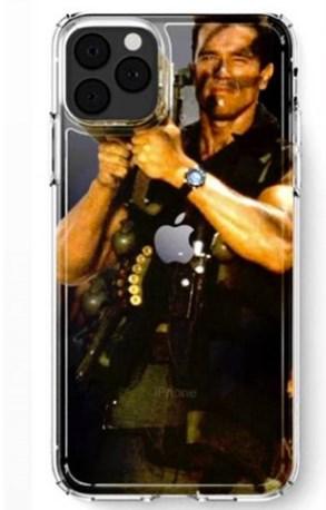 """施瓦辛格本人用上蘋果iPhone 11 Pro""""火箭筒""""手機殼"""
