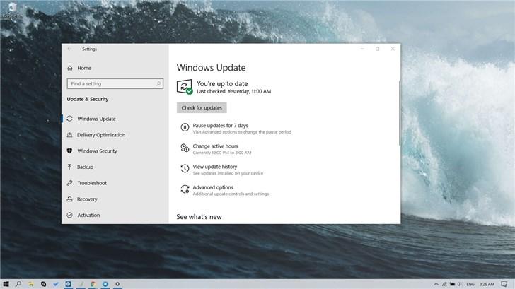 微软2019 Windows 10更新十一月版(1909)配置需求公