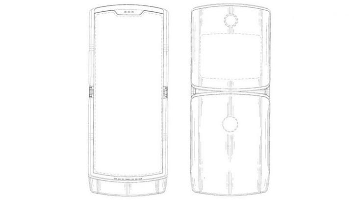 摩托罗拉RAZR可折叠手机设计草图曝光:展示展开