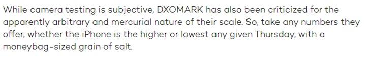"DxOMark遭外媒""diss"":收費優化和評分方式均不合理"