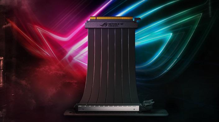 华硕ROG Strix PCIe延长线上架,采用EMI防电磁干扰设计