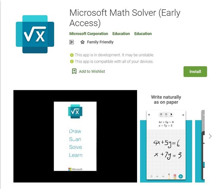 微软数学安卓版正式发布:拍照搜题、手写输入